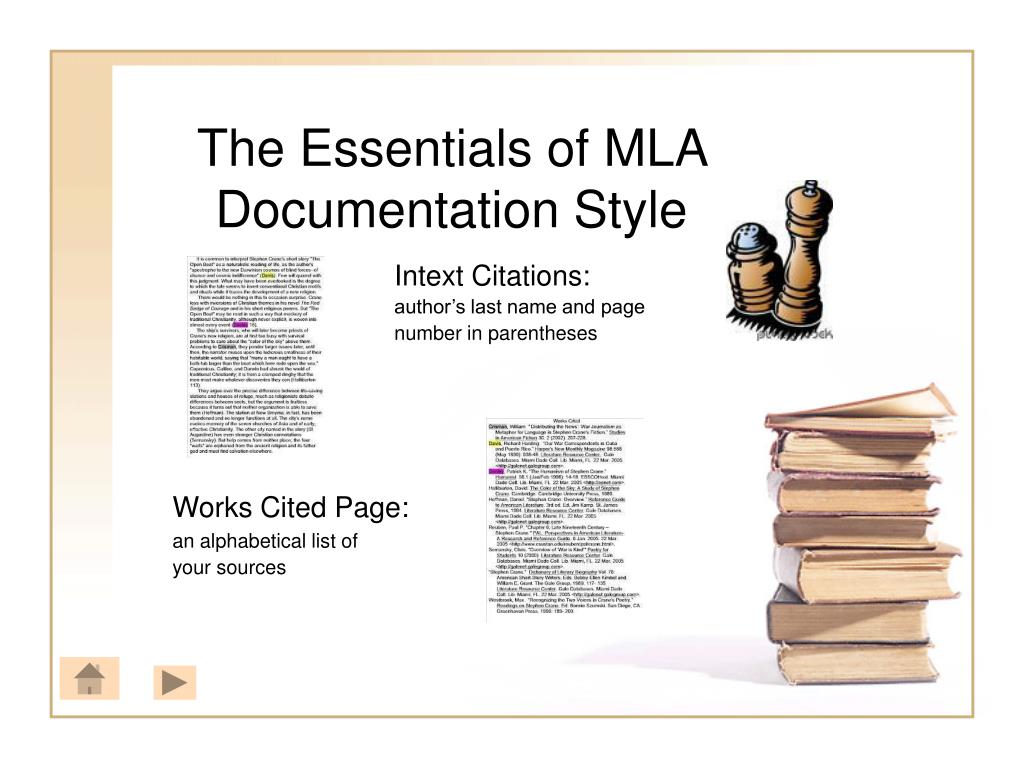 The Essentials of MLA Documentation Style