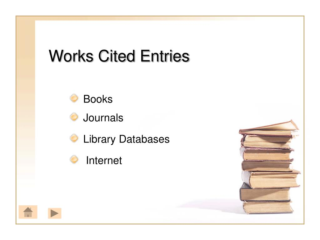 Works Cited Entries
