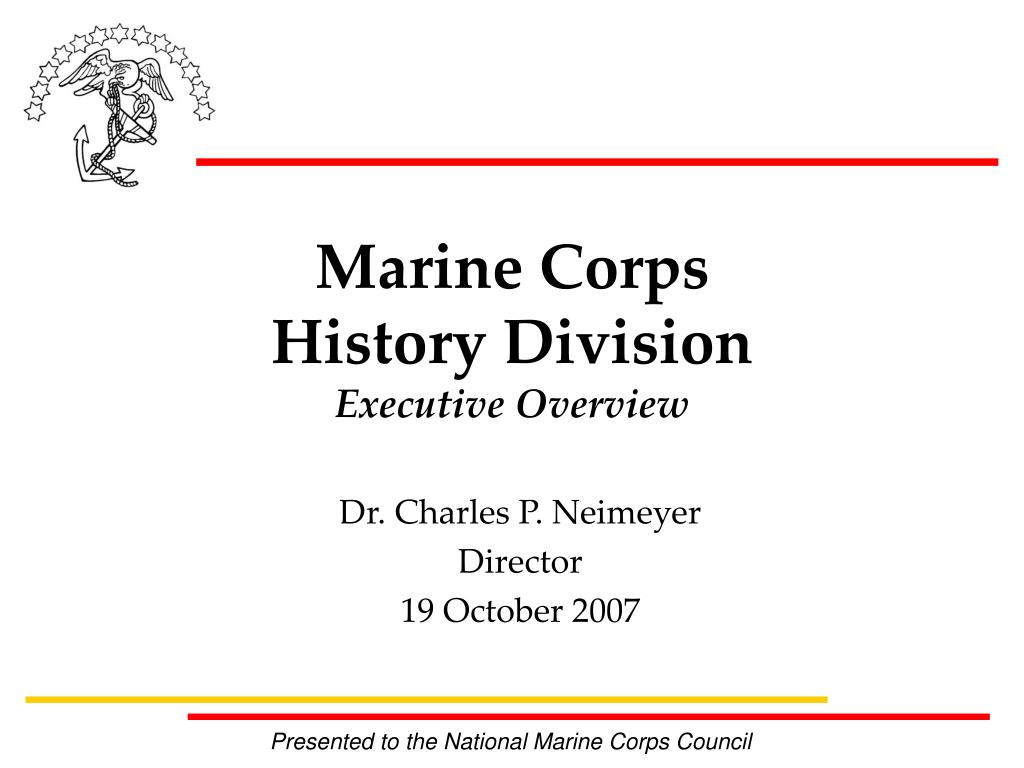 marine corps history division executive overview