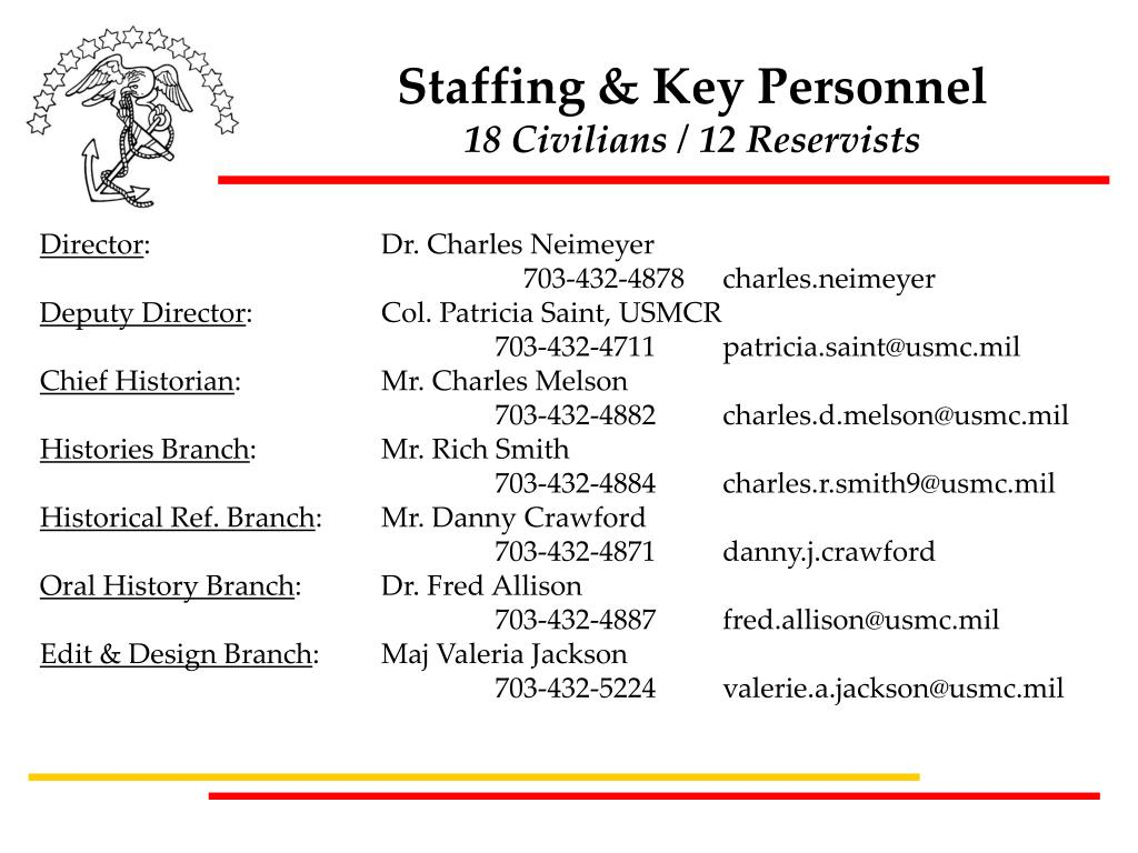 Staffing & Key Personnel