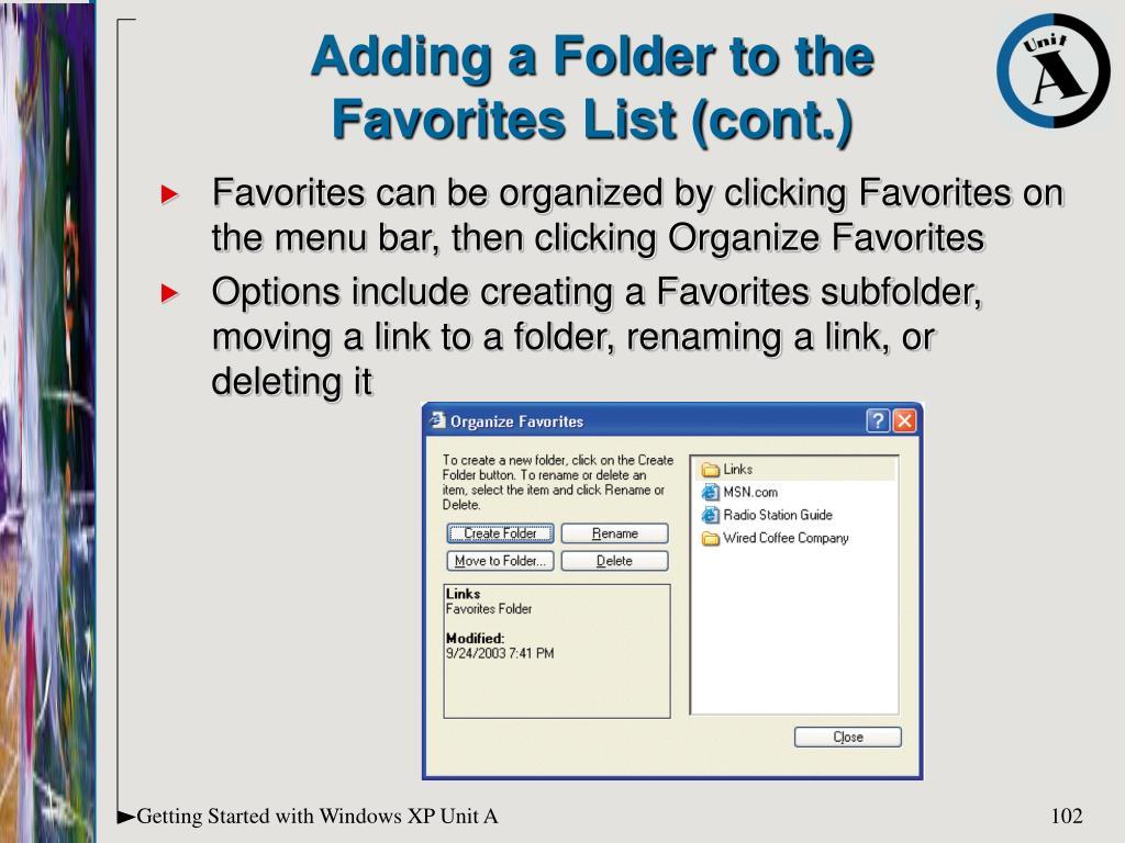 Adding a Folder to the