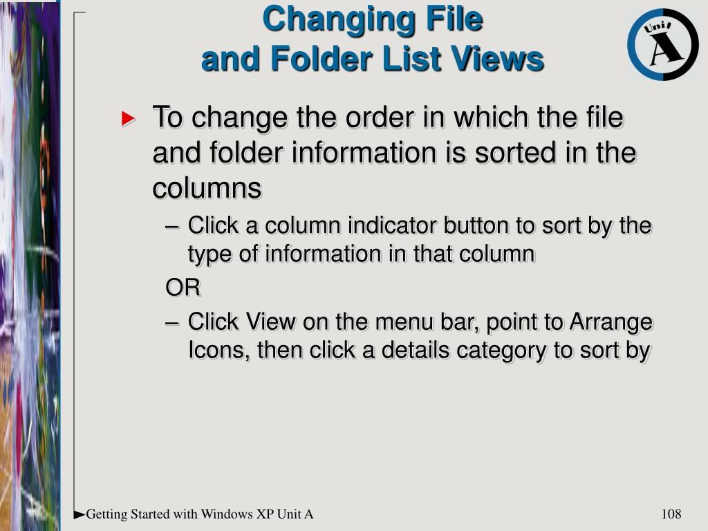 Changing File