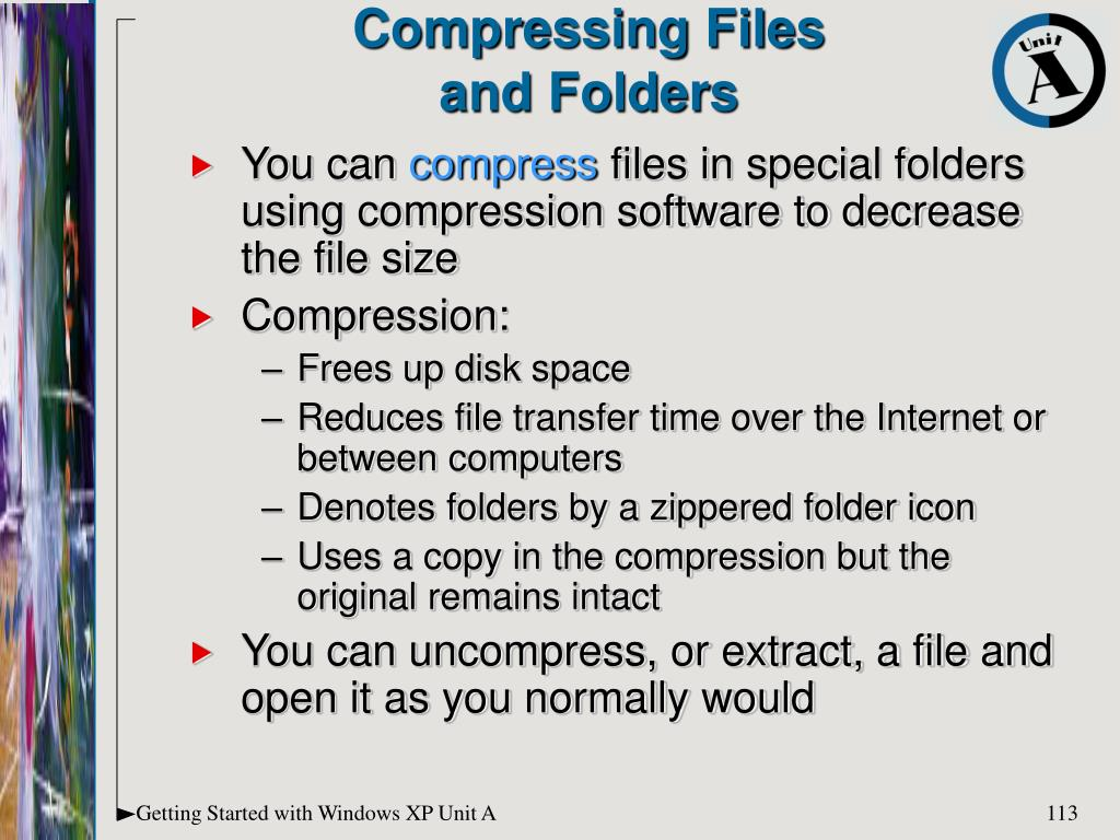 Compressing Files