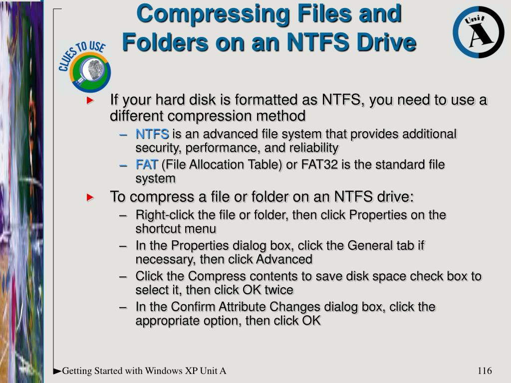 If your hard disk is formatted as NTFS, you need to use a different compression method