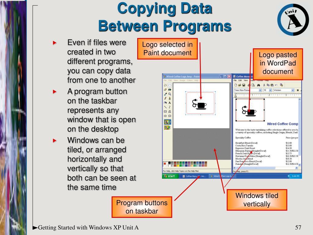 Copying Data