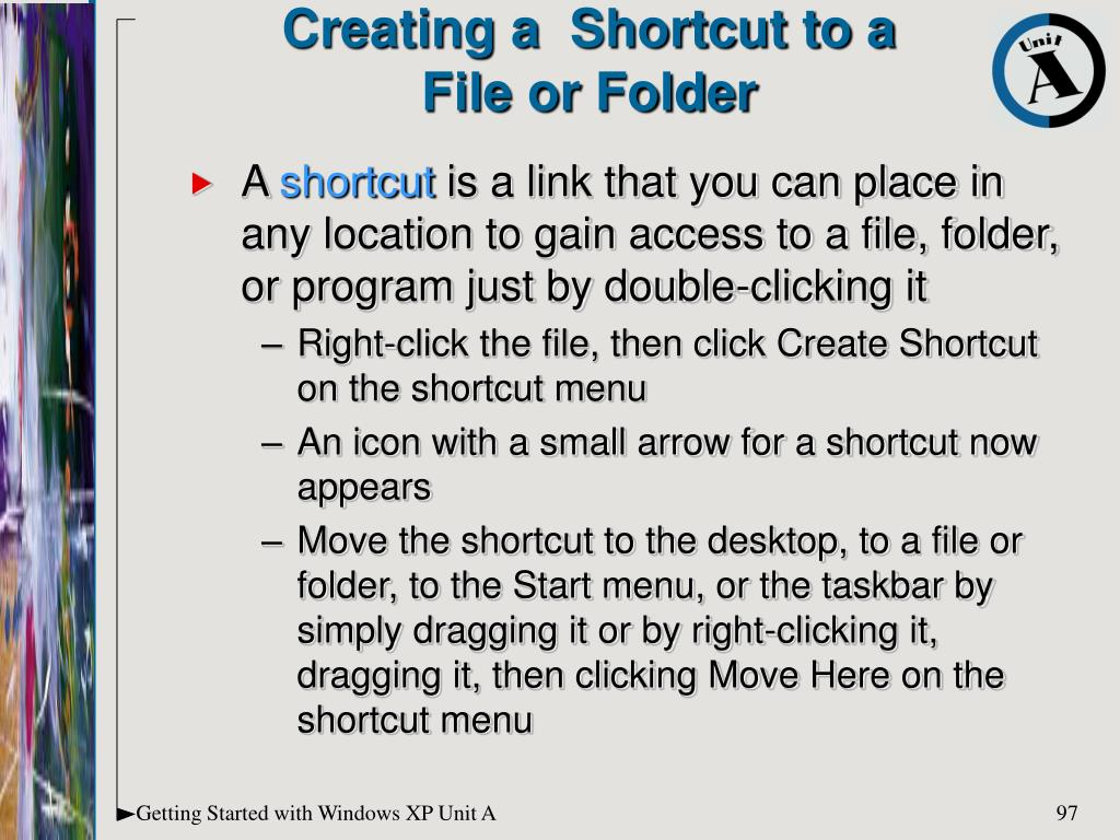 Creating a  Shortcut to a