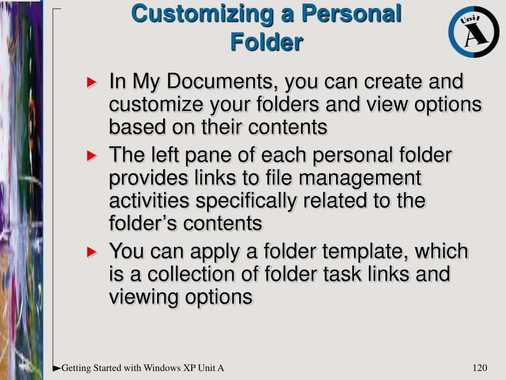 Customizing a Personal
