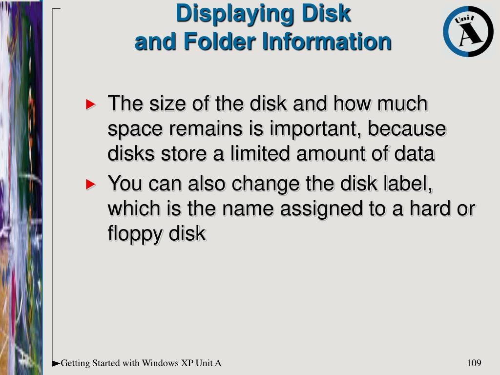 Displaying Disk