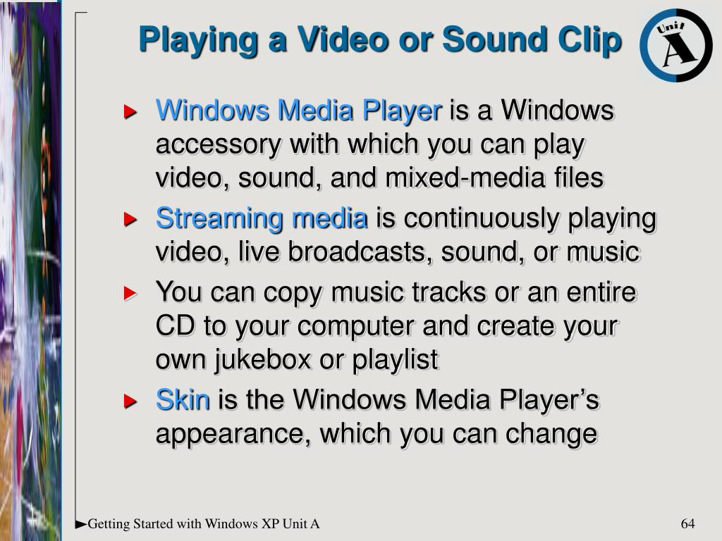Playing a Video or Sound Clip