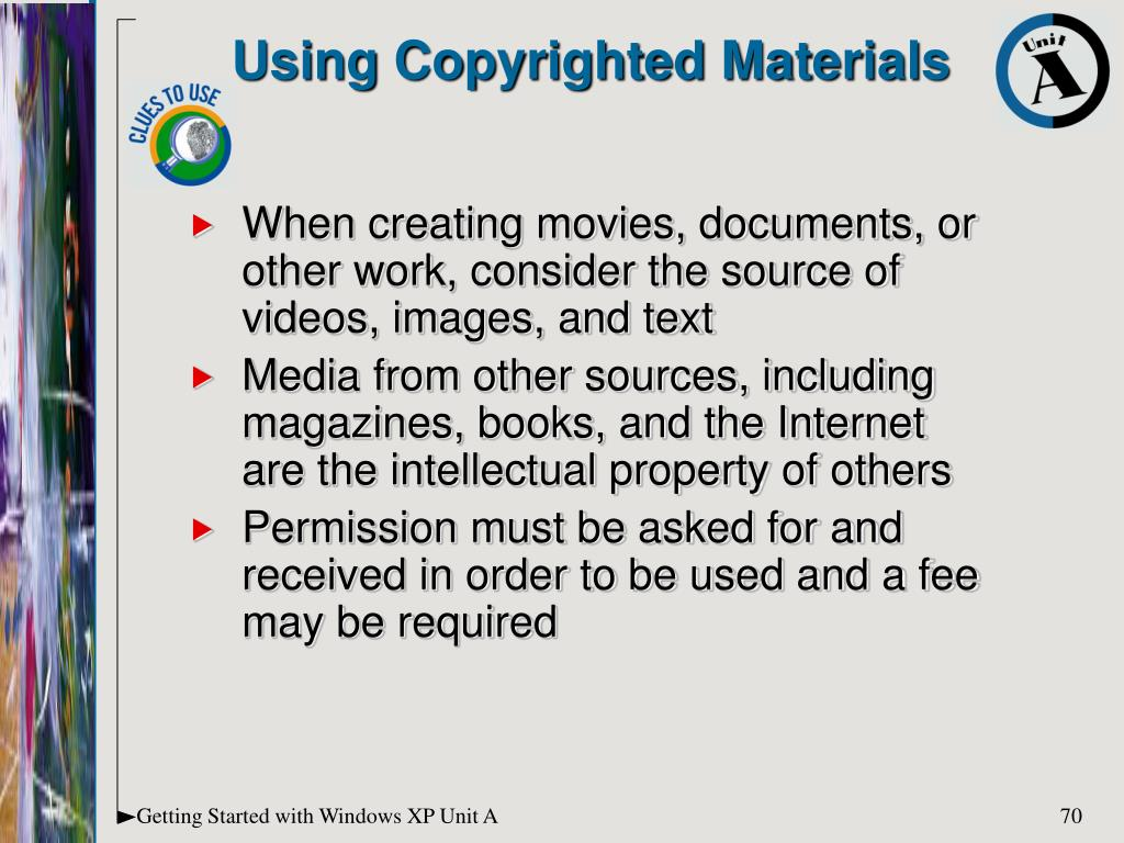 Using Copyrighted Materials