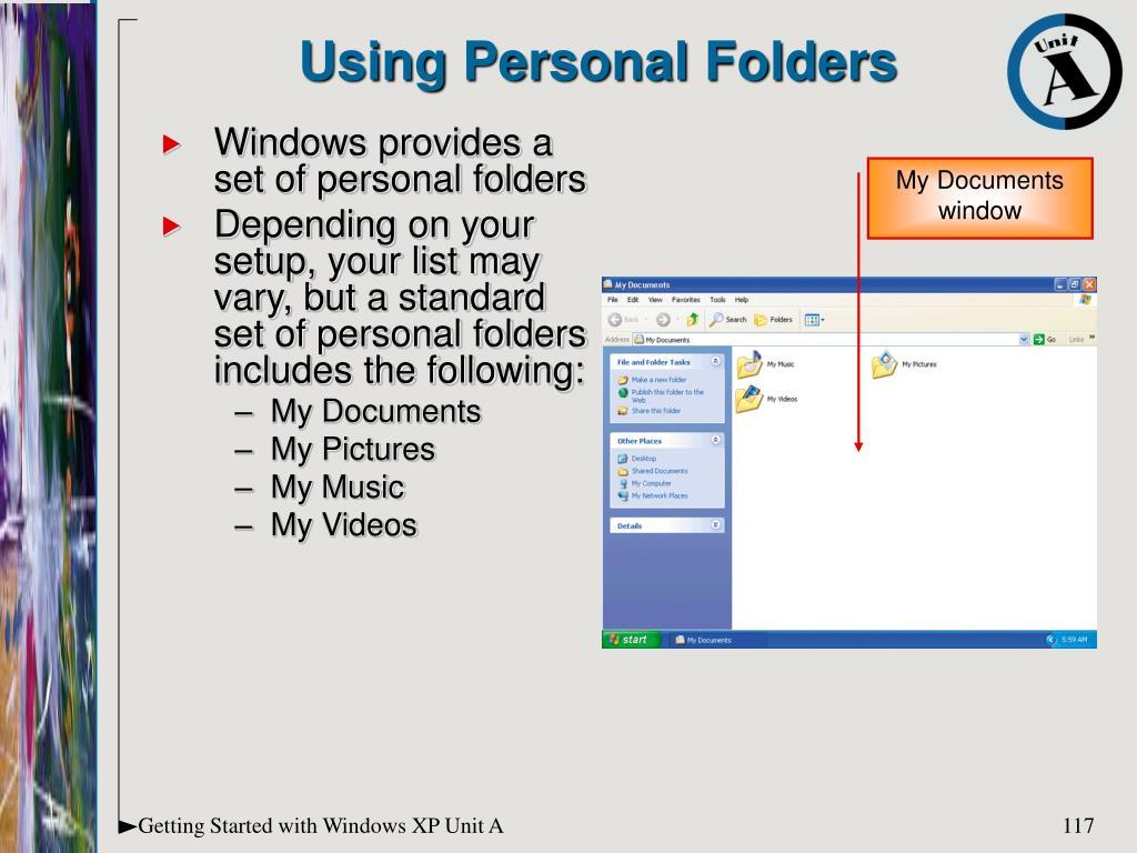 Using Personal Folders