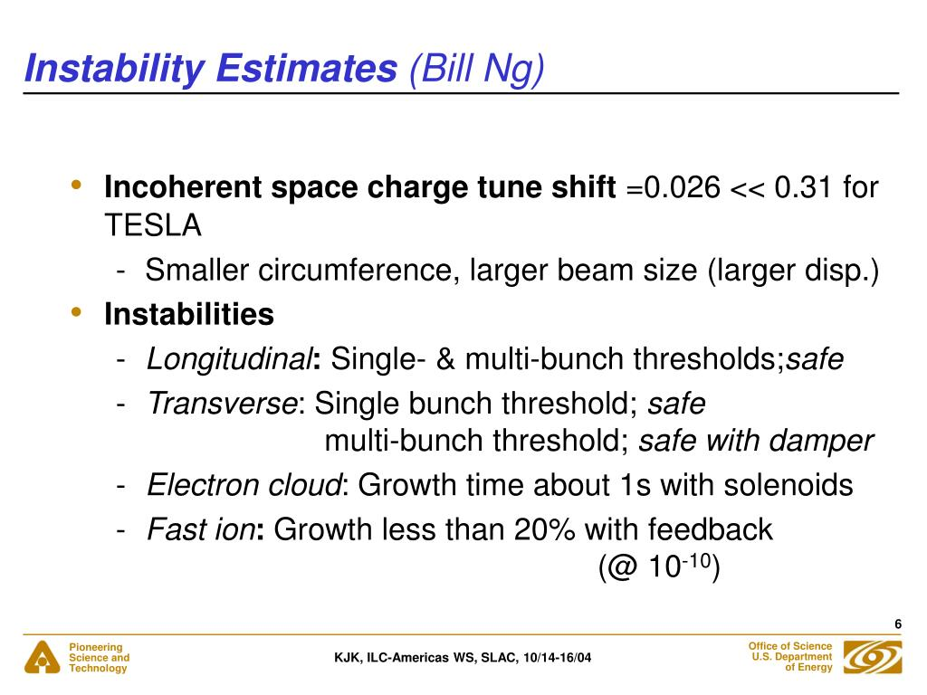 Instability Estimates