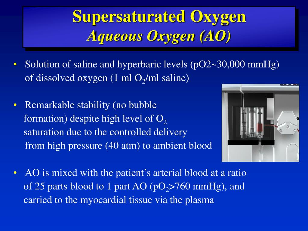 Supersaturated Oxygen
