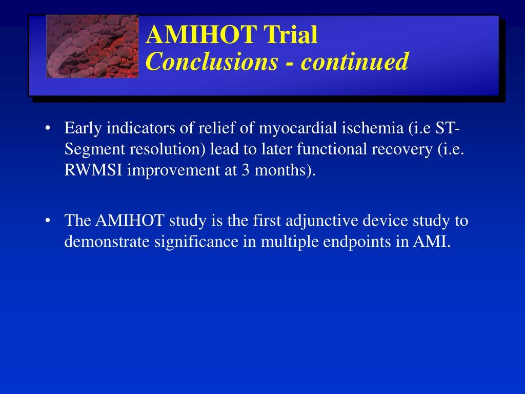 AMIHOT Trial
