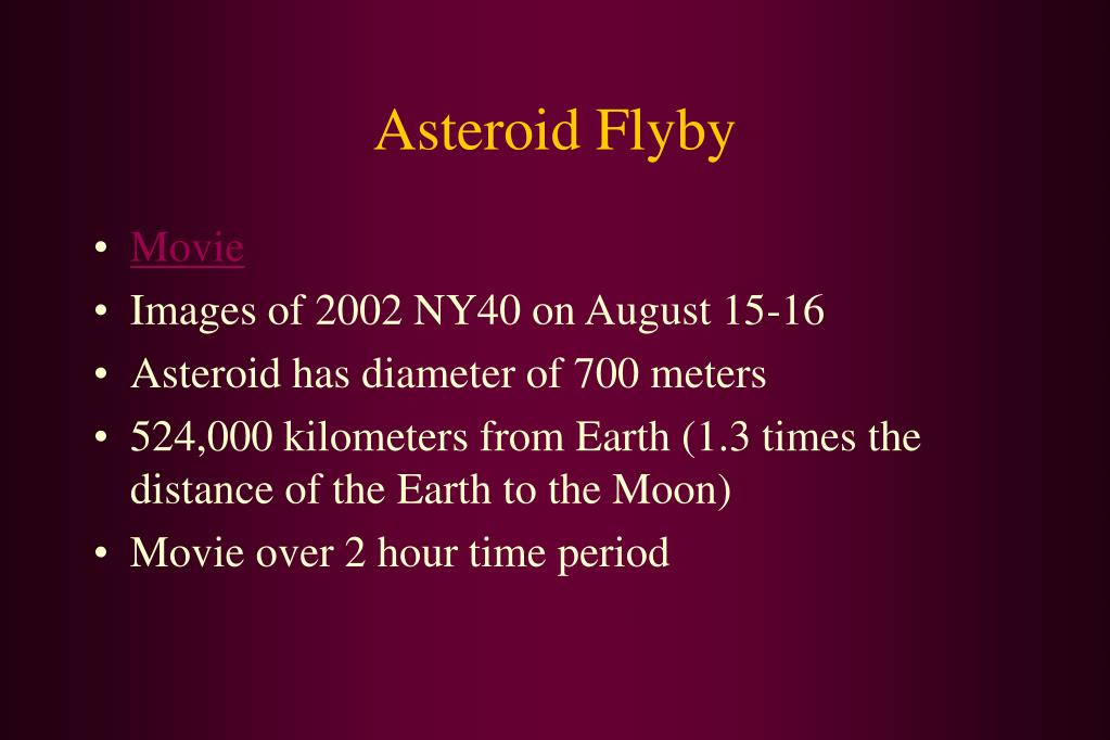 Asteroid Flyby