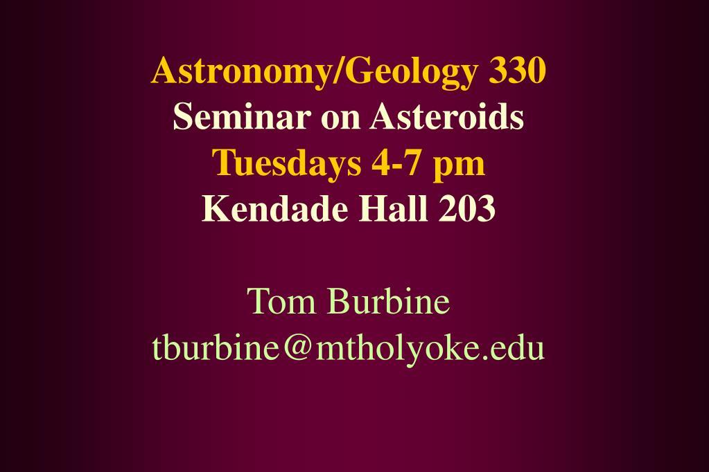 Astronomy/Geology 330