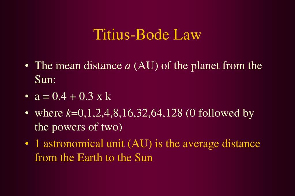 Titius-Bode Law