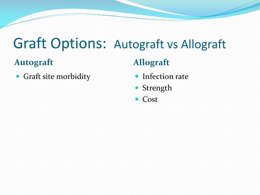 Graft Options:
