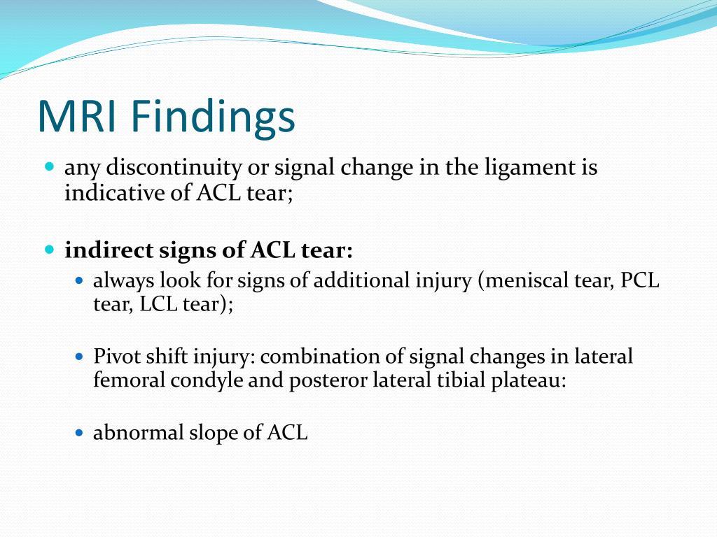 MRI Findings