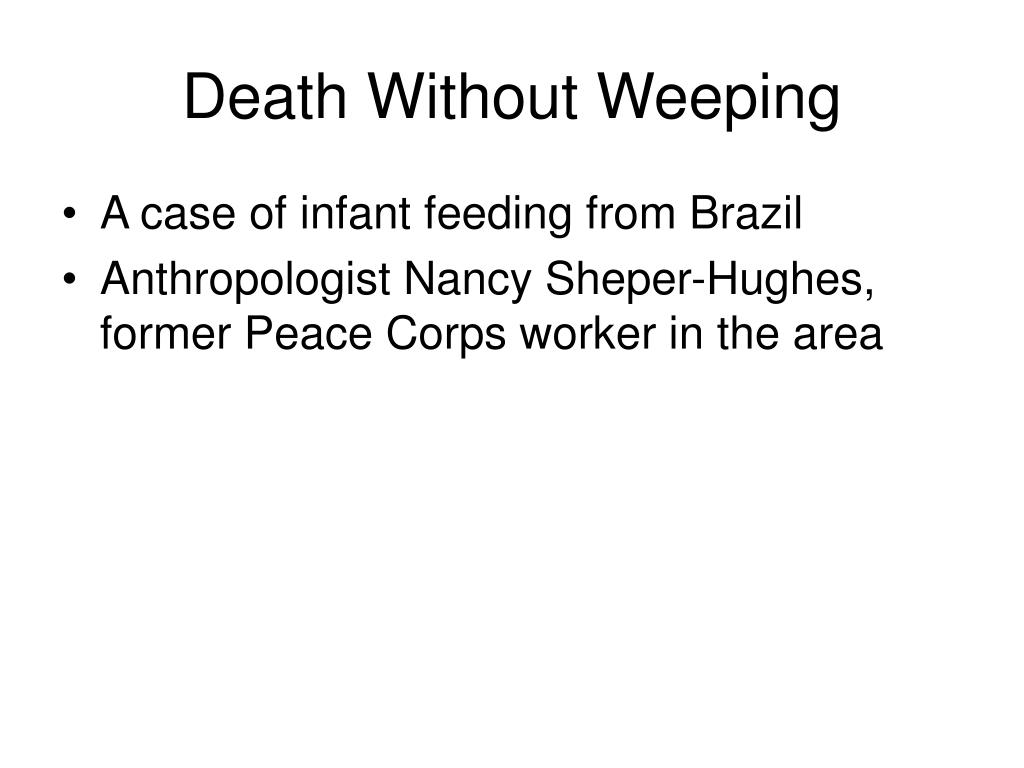 Death Without Weeping
