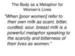 the body as a metaphor for women s lives
