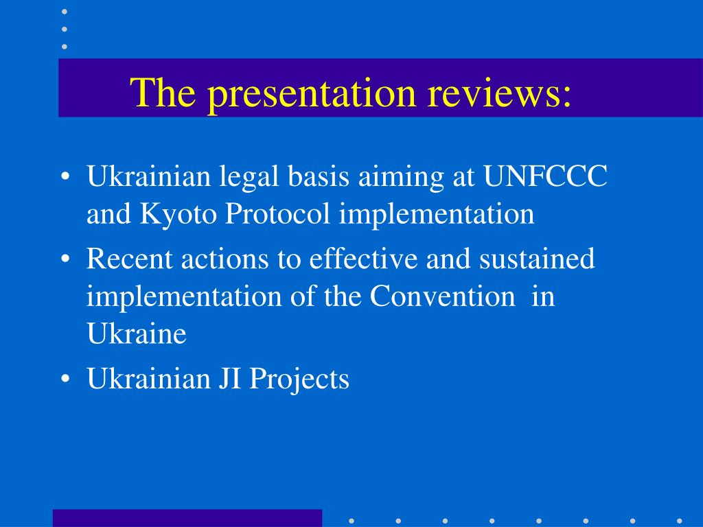 The presentation reviews: