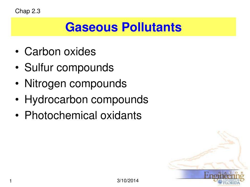 gaseous pollutants