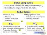 sulfur compounds