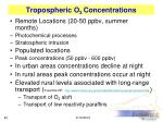 tropospheric o 3 concentrations