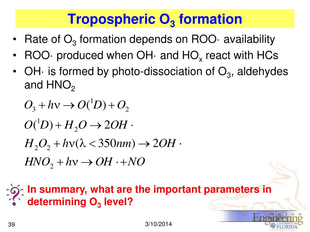 In summary, what are the important parameters in determining O