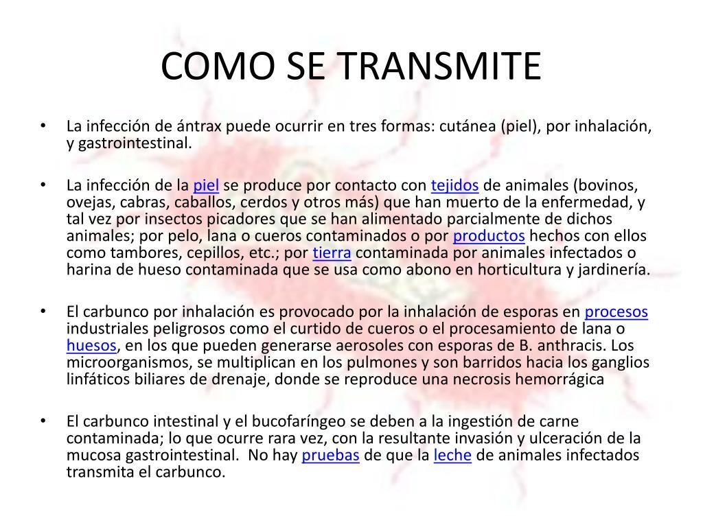 COMO SE TRANSMITE