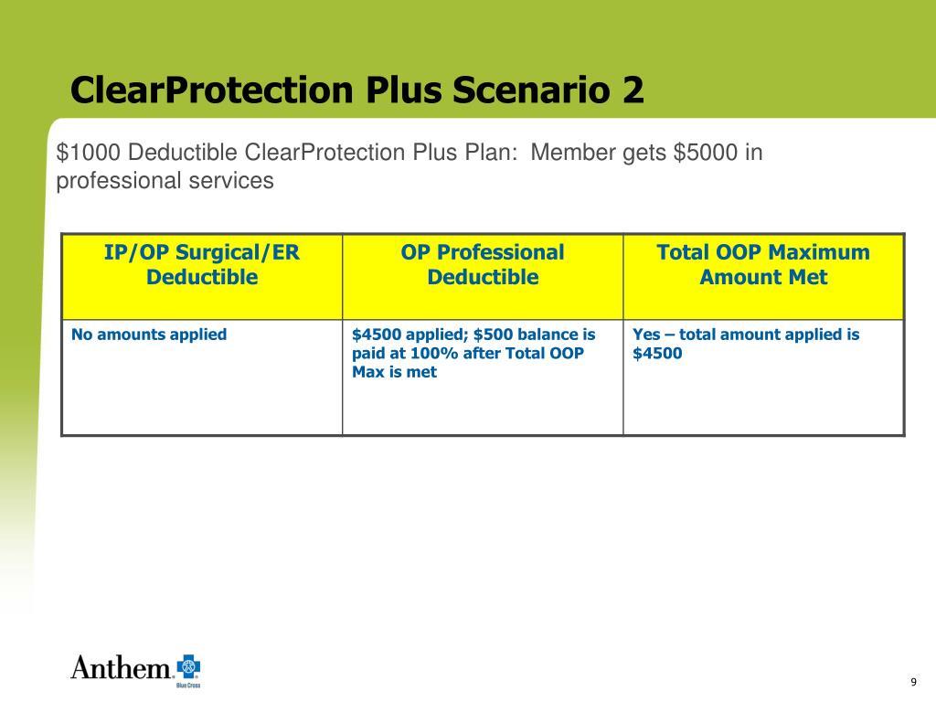 ClearProtection Plus Scenario 2