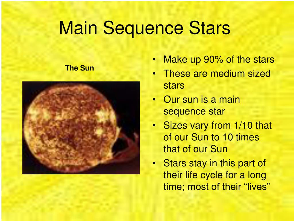 Main Sequence Stars