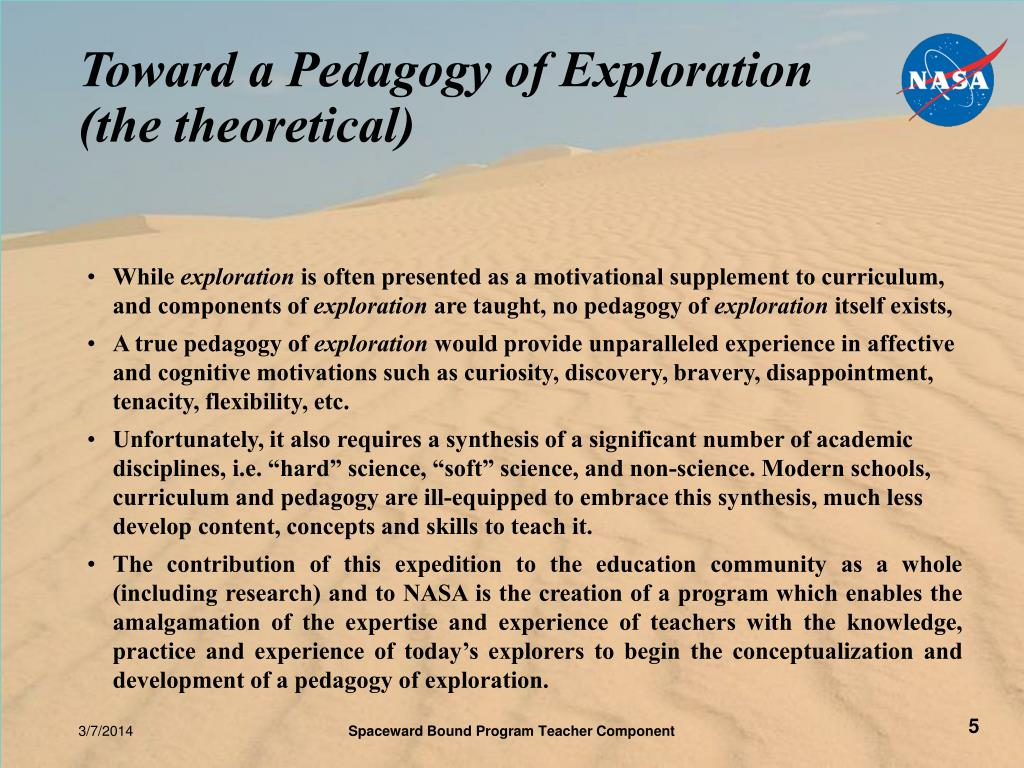 Toward a Pedagogy of Exploration