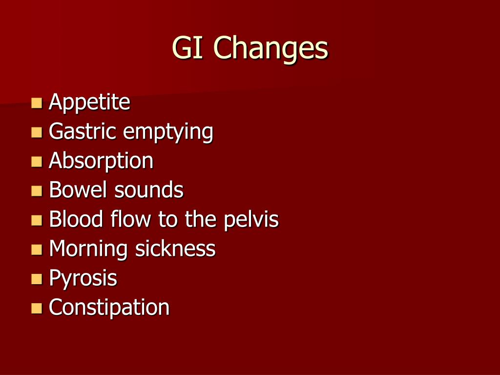 GI Changes