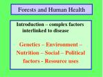 forests and human health8