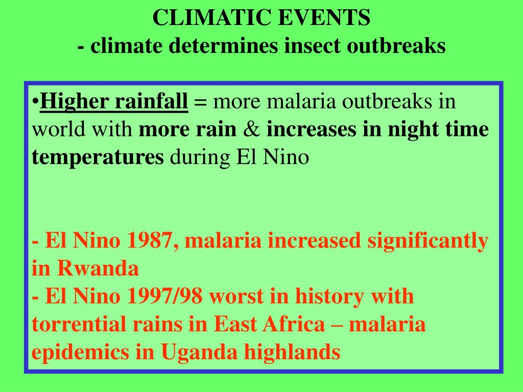 CLIMATIC EVENTS