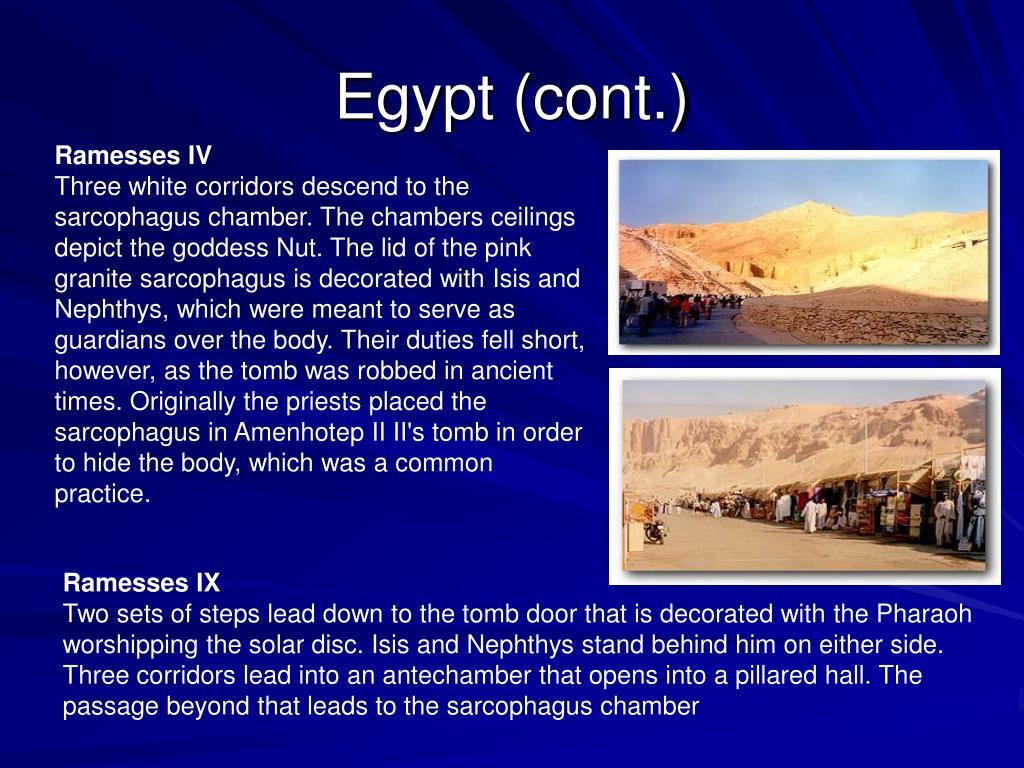 Egypt (cont.)