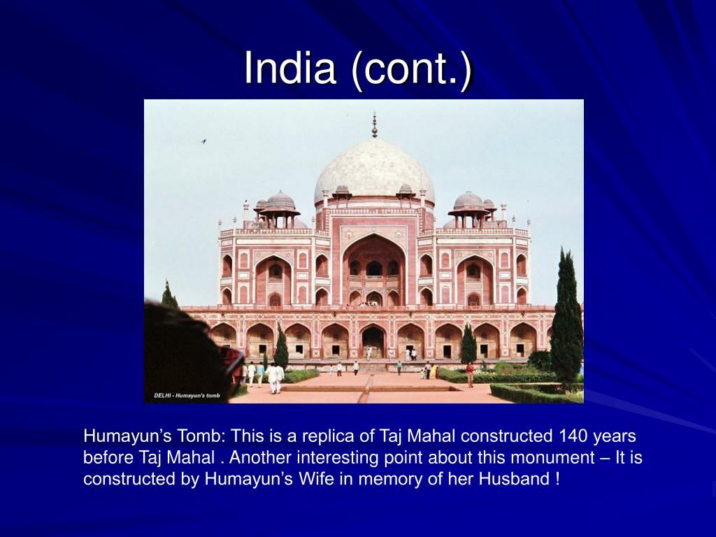 India (cont.)