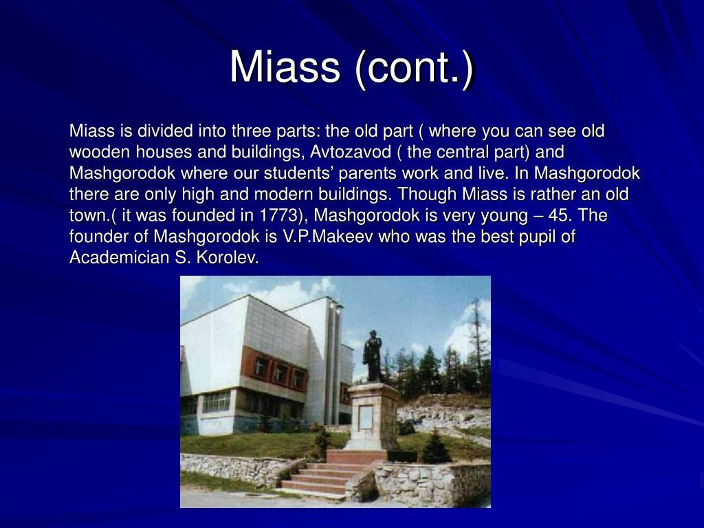 Miass (cont.)