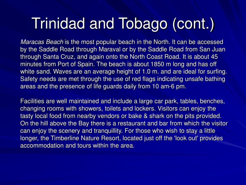 Trinidad and Tobago (cont.)