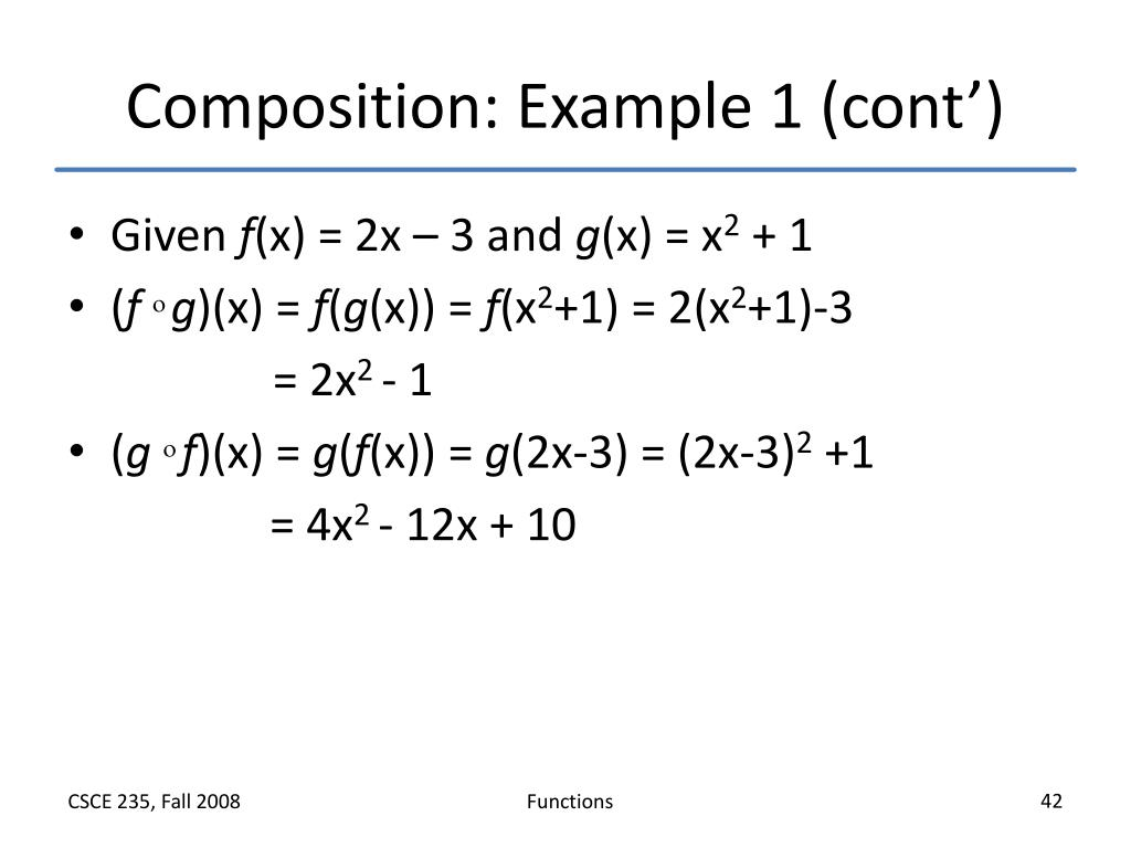 Composition: Example 1 (cont')