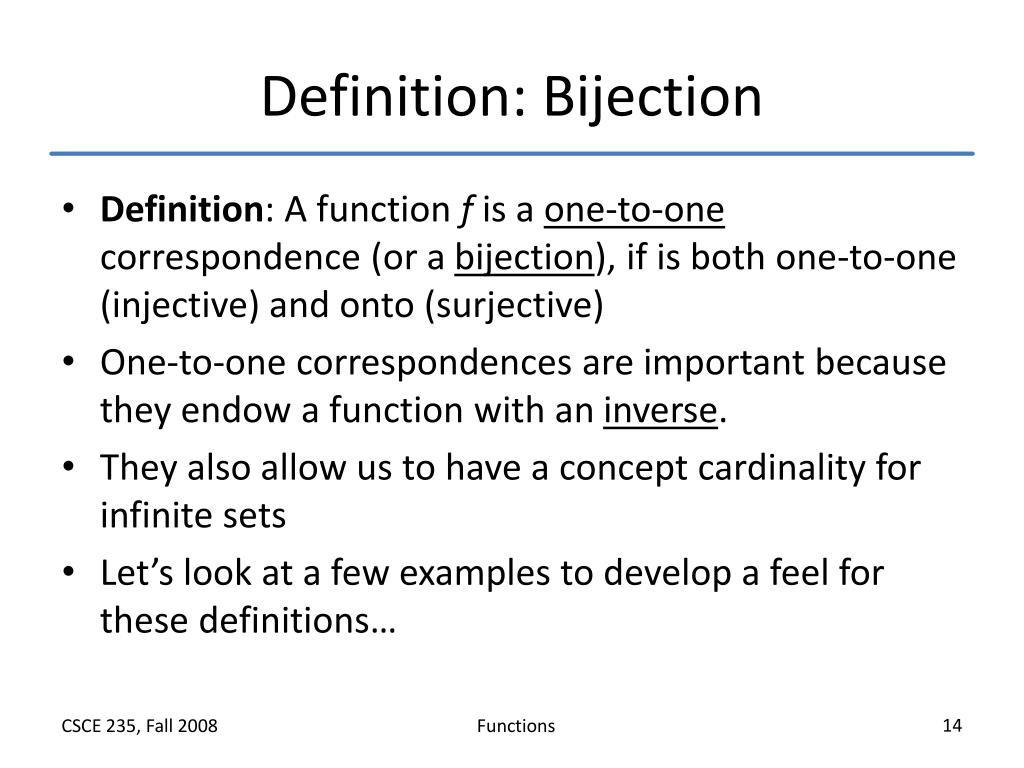Definition: Bijection