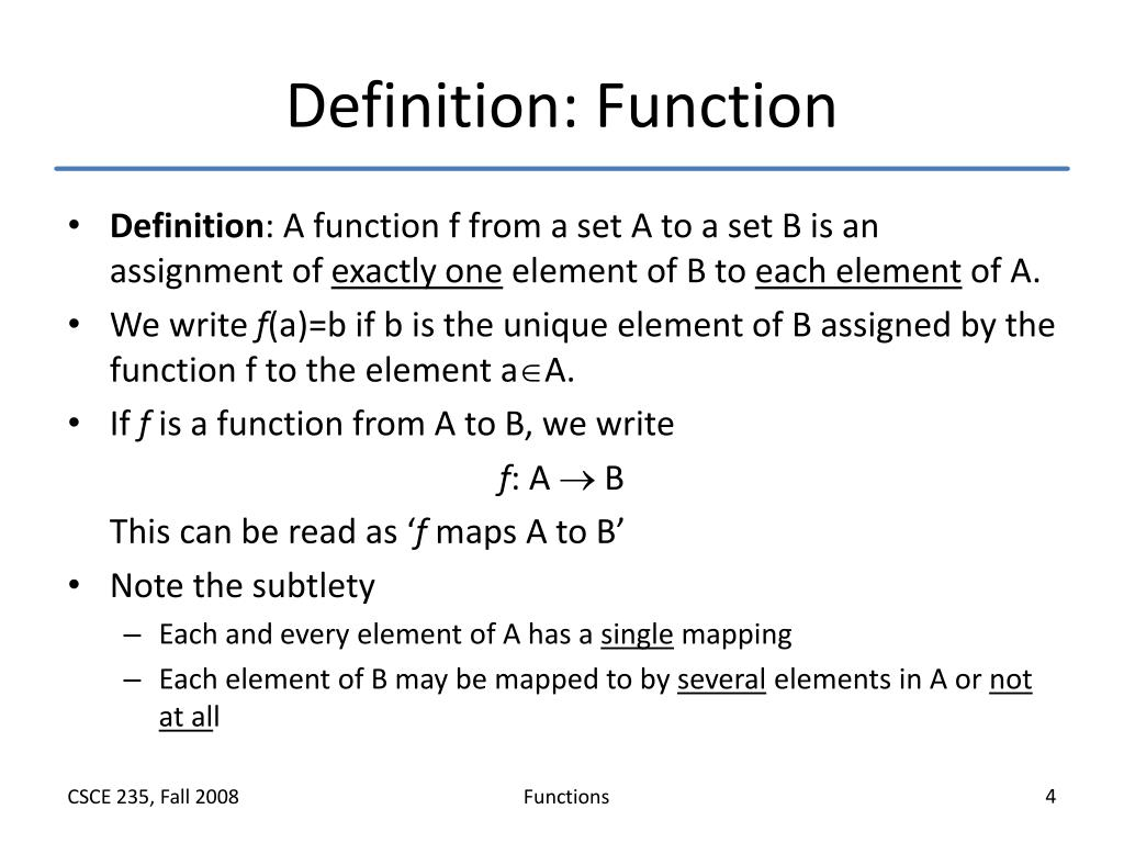Definition: Function