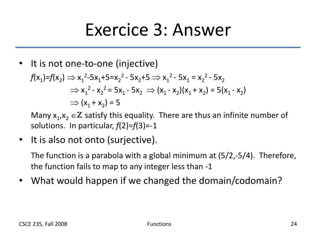 Exercice 3: Answer