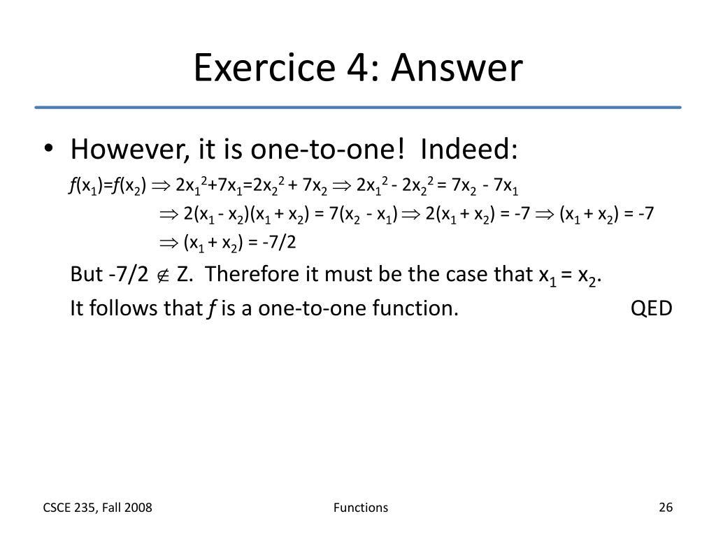 Exercice 4: Answer