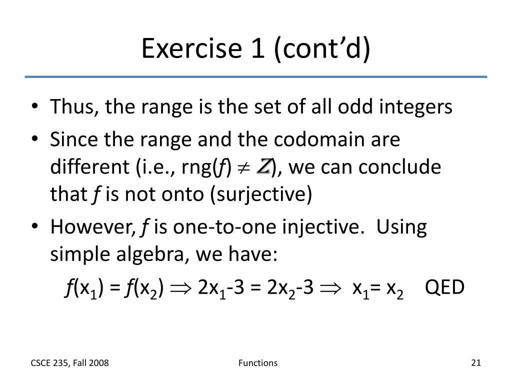 Exercise 1 (cont'd)