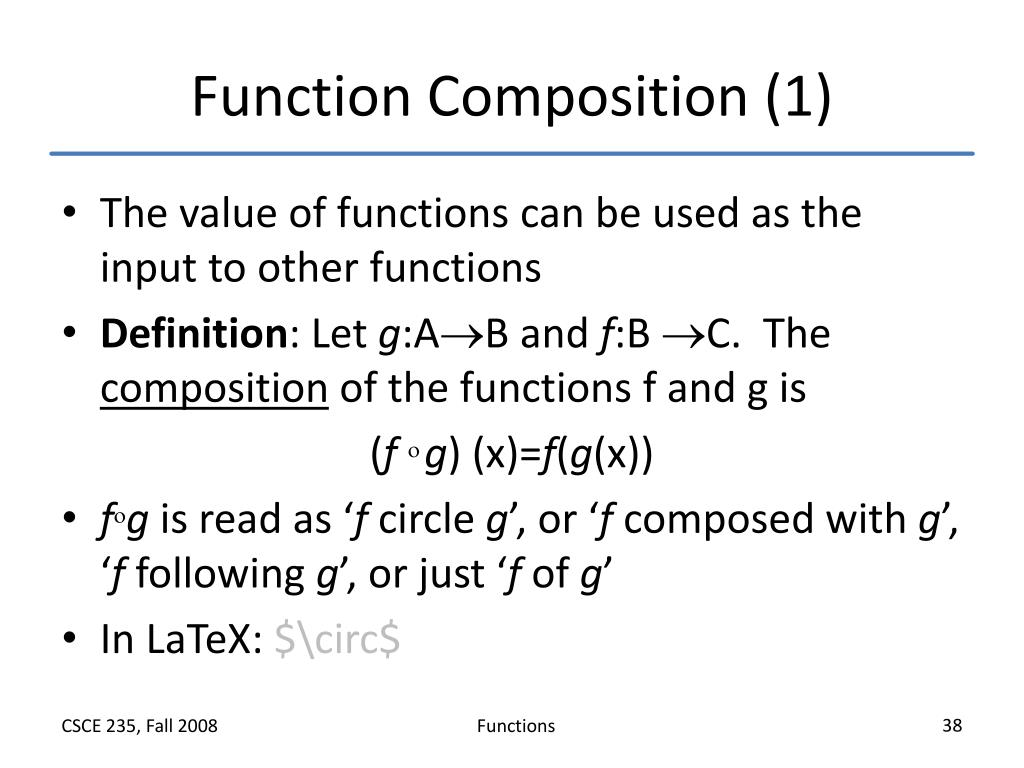 Function Composition (1)