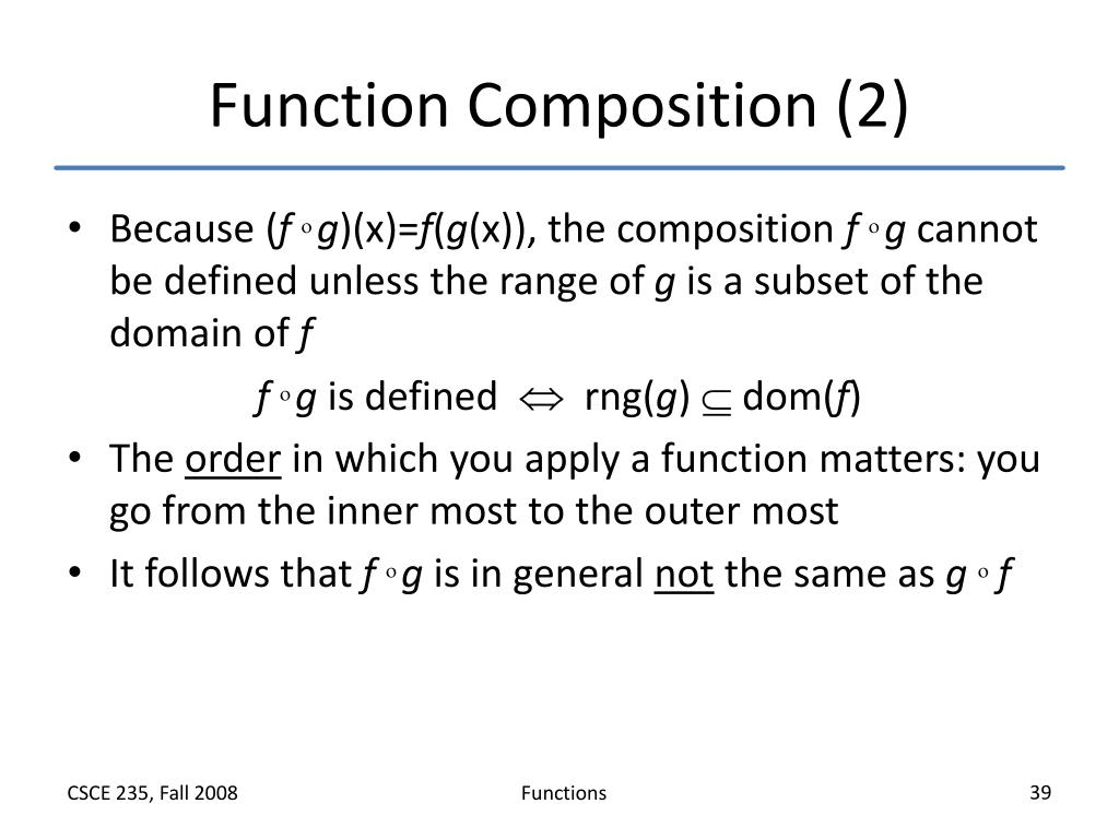 Function Composition (2)