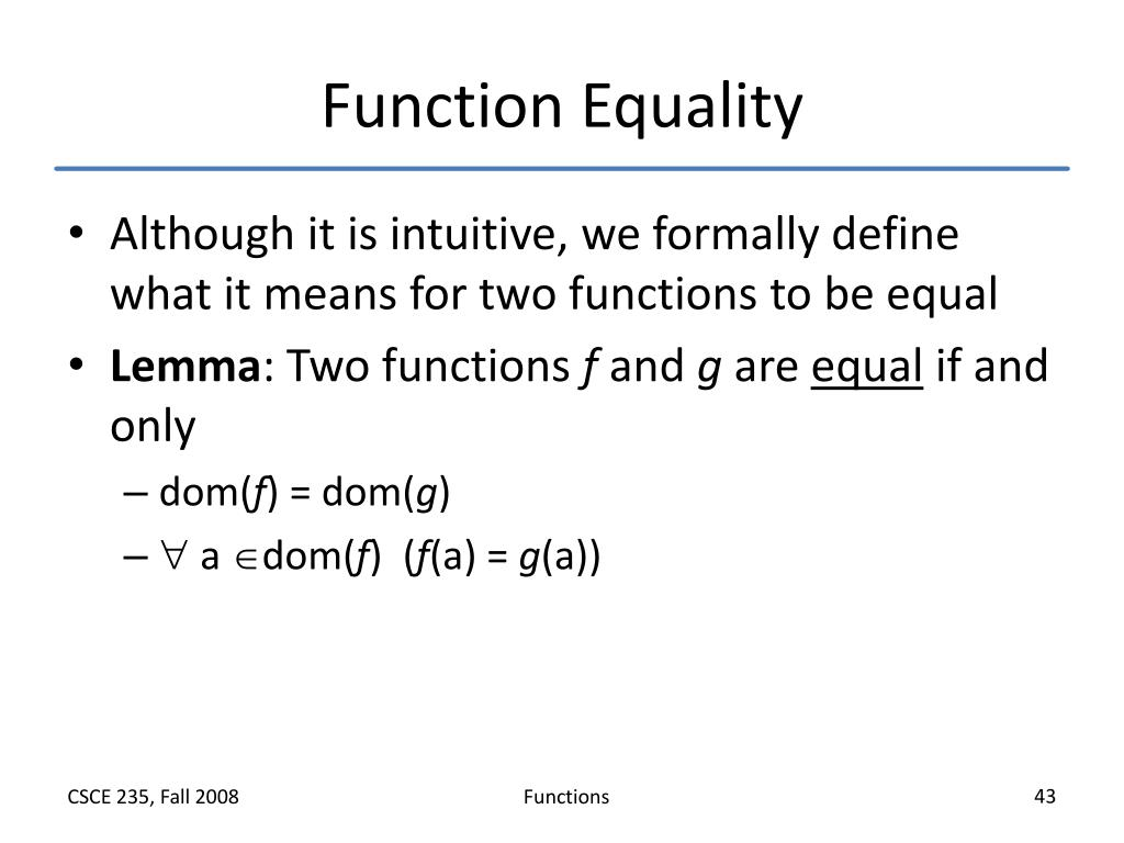 Function Equality